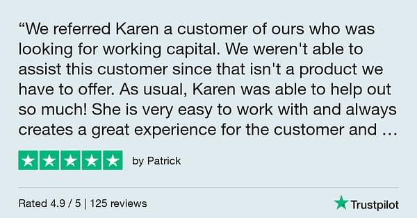 Trustpilot Review - Patrick