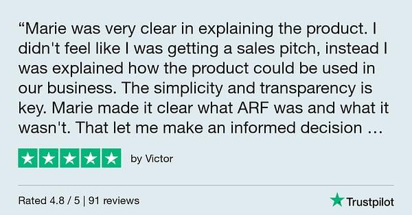 Trustpilot Review - Victor