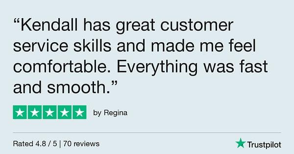 Trustpilot Review - Regina