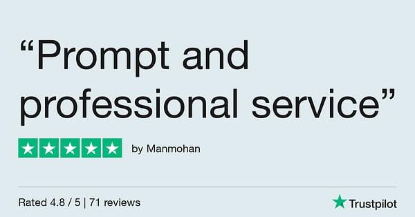 Trustpilot Review - Manmohan