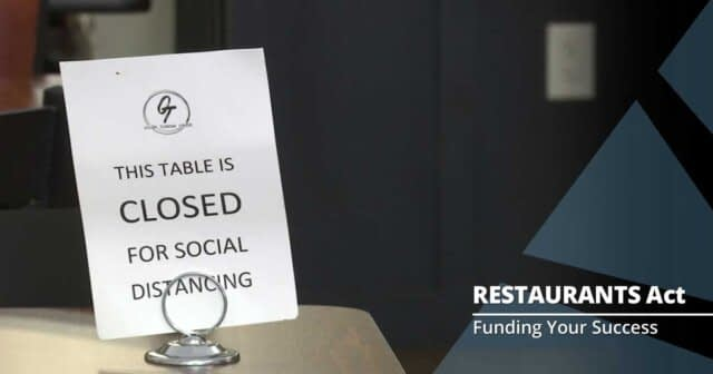 RESTAURANTS Act Nears 50% Congressional Support